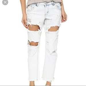 NWT!! One Teaspoon Iced Blue Lonely Boy Jeans